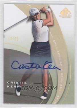 2012 SP Game Used Edition - [Base] - Spectrum Autographs [Autographed] #27 - Cristie Kerr /25