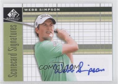 2012 SP Game Used Edition - Scorecard Signatures #SS-WS - Webb Simpson