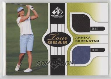 2012 SP Game Used Edition - Tour Gear - Green Shirts #TG AS - Annika Sorenstam