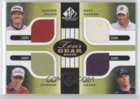 Hunter Mahan, Matt Kuchar, Zach Johnson, Ben Crane