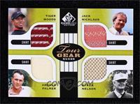 Tiger Woods, Jack Nicklaus, Arnold Palmer, Byron Nelson
