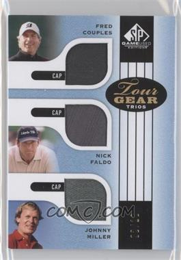 2012 SP Game Used Edition - Tour Gear Trios - Blue Caps #TG3 CFM - Fred Couples, Nick Faldo, Johnny Miller /10