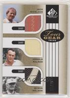Jack Nicklaus, Arnold Palmer, Byron Nelson #/25