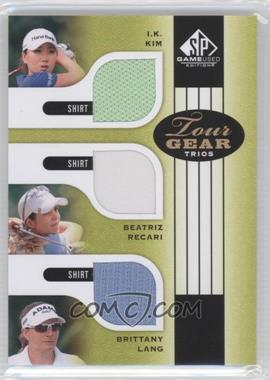 2012 SP Game Used Edition - Tour Gear Trios - Green Shirts #TG3 KRL - I.K. Kim, Beatriz Recari, Brittany Lang