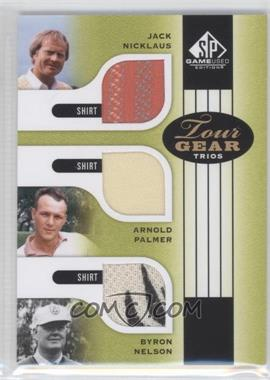 2012 SP Game Used Edition - Tour Gear Trios - Green Shirts #TG3 LEGEND - Jack Nicklaus, Arnold Palmer, Byron Nelson