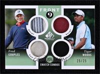 Tiger Woods, Fred Couples #/25