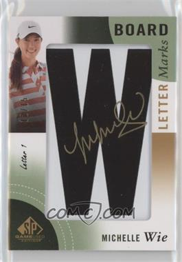 2014 SP Game Used Edition - Leaderboard Letter Marks #LL-MW - Michelle Wie (Letter 1 - W) /15