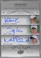Victoria Elizabeth, Stacy Lewis, Melissa Reid [Noted] #/15