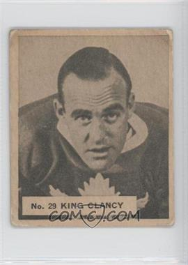 1937 World Wide Gum - V356 #29 - King Clancy [Good to VG‑EX]