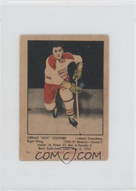 1951-52 Parkhurst - [Base] #17 - Gerry Couture [Good to VG‑EX]