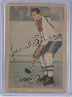 1953-54 Parkhurst - [Base] #27 - Jean Beliveau [Good to VG‑EX]