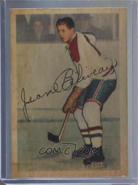 1953-54 Parkhurst - [Base] #27 - Jean Beliveau [Poor to Fair]