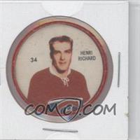 1960-61 Shirriff Coins - [Base] #34 - Henri Richard