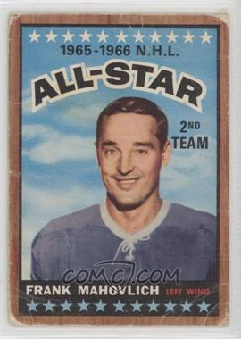 1966-67 Topps - [Base] #131 - Frank Mahovlich [Poor]