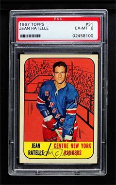 75cb07493 1967-68 Topps -  Base   31 - Jean Ratelle  PSA 6 EX-MT  - COMC Card ...