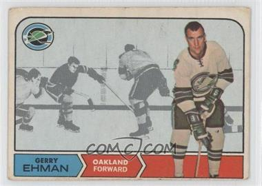 1968-69 O-Pee-Chee - [Base] #84 - Gerry Ehman [Good to VG‑EX]