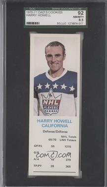 1970-71 Dad's Cookies - [Base] #HAHO - Harry Howell [SGC 92]
