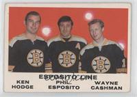 Ken Hodge, Phil Esposito, Wayne Cashman [GoodtoVG‑EX]
