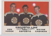 Ken Hodge, Phil Esposito, Wayne Cashman