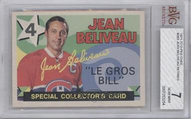 1971-72 O-Pee-Chee - [Base] #263 - Jean Beliveau [BVG7]