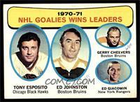 Tony Esposito, Ed Johnston, Gerry Cheevers, Ed Giacomin [GOOD]