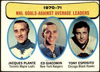 Jacques Plante, Ed Giacomin, Tony Esposito [GOOD]