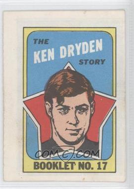 1971-72 Topps - Booklet #17 - Ken Dryden