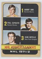 Phil Esposito, Jean Ratelle, Bobby Orr