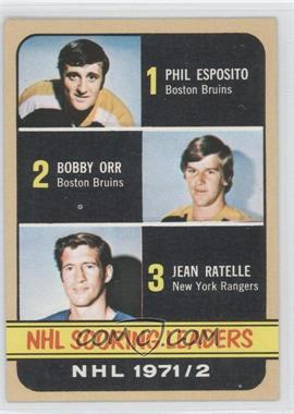 1972-73 Topps - [Base] #63 - Phil Esposito, Jean Ratelle, Bobby Orr
