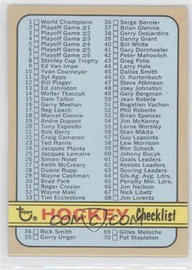 1972-73 Topps - [Base] #94 - Checklist