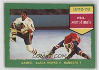 Chicago Blackhawks (Black Hawks) Team, New York Rangers Team (Light Back)