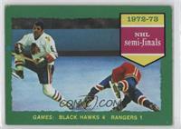 Chicago Blackhawks (Black Hawks) Team, New York Rangers Team (Dark Back) [Good&…