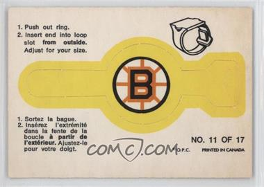 1973-74 O-Pee-Chee - Rings #11 - Boston Bruins Team