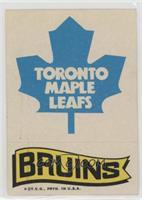 Toronto Maple Leafs Team, Boston Bruins Team