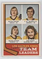 Butch Goring, Frank St. Marseille, Don Kozak