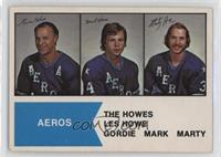 Gordie Howe, Mark Howe, Marty Howe [Poor to Fair]
