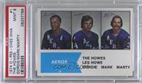 Gordie Howe, Mark Howe, Marty Howe [PSA9MINT]