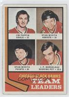 Jim Pappin, Stan Mikita, J.P. Bordeleau [Good to VG‑EX]