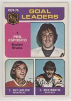 Phil Esposito, Guy Lafleur, Rick Martin [GoodtoVG‑EX]