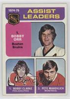 Bobby Clarke, Bobby Orr, Pete Mahovlich [Poor to Fair]