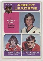 Bobby Clarke, Bobby Orr, Pete Mahovlich [GoodtoVG‑EX]