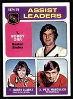 Bobby Clarke, Bobby Orr, Pete Mahovlich [NM]