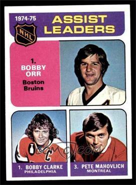 1975-76 Topps - [Base] #209 - Bobby Clarke, Bobby Orr, Pete Mahovlich [NMMT]