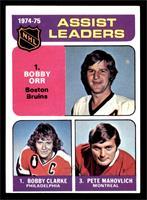Bobby Clarke, Bobby Orr, Pete Mahovlich [EX]