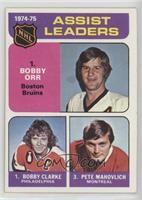 Bobby Clarke, Bobby Orr, Pete Mahovlich