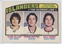 Clark Gillies, Bryan Trottier, Billy Harris [GoodtoVG‑EX]