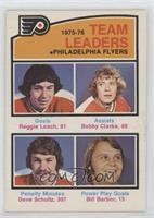 Reggie Leach, Bobby Clarke, Dave Schultz, Bill Barber
