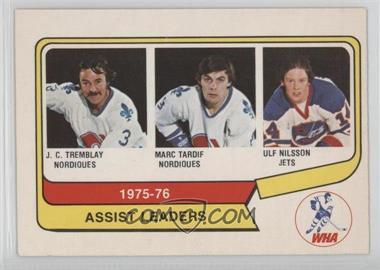 1976-77 O-Pee-Chee WHA - [Base] #2 - J.C. Tremblay, Marc Tardif, Ulf Nilsson