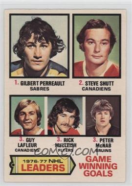 1977-78 O-Pee-Chee - [Base] #7 - Gilbert Perreault, Steve Shutt, Guy Lafleur, Rick MacLeish, Peter McNab [GoodtoVG‑EX]