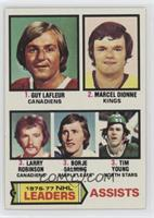 Marcel Dionne, Tim Young, Guy Lafleur, Larry Robinson, Borje Salming
